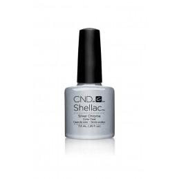 Shellac nail polish - SILVER CHROME
